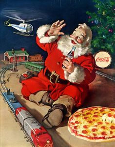 Coke, Pizza and Santa--these are a few of my favorite things.