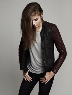 Rixey leather bomber // All Saints