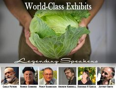 National Heirloom Exposition.  If you love your fruits and veggies...this show is for you!  Great information and events.  Gorgeous displays that are making my mouth water.