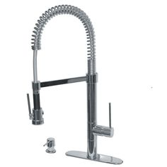 Pegasus 78PW557LFEX Marilyn Commercial Single-Handle Pull-Down Kitchen Faucet with Soap Dispenser in Brushed Nickel - Kitchen Faucets - Kitchen   ExpressDecor.com