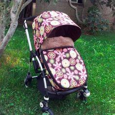Saco silla tipo Bugaboo con estampado de flores retro - Teoyleo