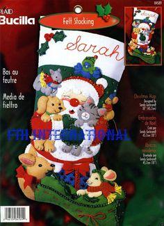 Bucilla Christmas Hugs  18 Felt Stocking Kit 84589