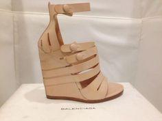 New BALENCIAGA Leather Platform Sandals US-8 EU-38 (5 days expedited shipping)