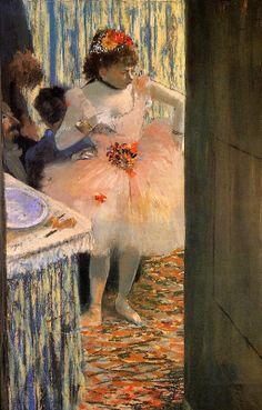 Edgar Degas. Dancer in Her Dressing Room (1880).