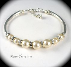 pearl bracelet on Etsy