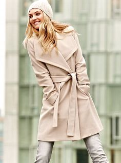 I want in camel.... Belted Wrap Coat - Michael by Michael Kors - Victoria's Secret