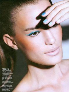 summer makeup #makeup #blue