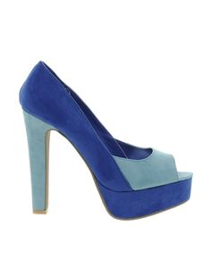 Sugarfree Evelyn Blue Suedette Heeled Shoe