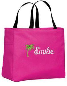 Personalized Tote Bag, Wedding Favors, Custom Gift, Beach Bag, Bridesmaid Gifts, Destination Wedding Bags, Palm Tree Design, Christmas Gift
