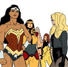 4 fav DC characters: Wonder Woman - Big Barda - Hawkgirl - Black Canary by Krisanka Marvel Avengers Movies, Marvel E Dc, Comic Books Art, Comic Art, Rafael Albuquerque, Big Barda, D Mark, Hq Dc, Wonder Woman Cosplay