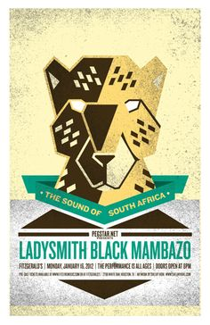 Ladysmith Black Mambazo by Shelby Hohl Music Posters, Concert Posters, Ladysmith Black Mambazo, Time For Africa, Hat Party, Best Ads, Expressive Art, Arrows, Soul Food