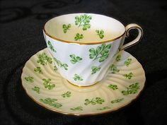 St Patrick's Day teacup