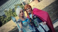 Warrior Elsa & Anna from Frozen Cosplay http://geekxgirls.com/article.php?ID=6336