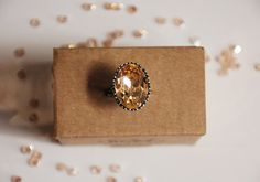 Light Peach ring by MarlysCreations on Etsy, €16.00