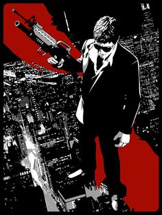 Scarface - Stephen Sampson (aka The Dark Inker) ---- Scarface Poster, Scarface Movie, Michelle Pfeiffer, Don Corleone, Gangster Movies, Cinema, Al Pacino, Movie Poster Art, Top Movies