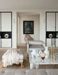 muted Living Room White White Rooms Living Rooms Beautiful Interiors White Interiors & 63 best new york style apartments images on Pinterest in 2018   Home ...