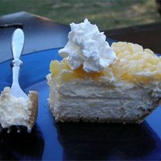 """Pineapple Cheesecake Squares   """"I  have been making this recipe for years now. It is great, takes a little time but its worth it!"""""""