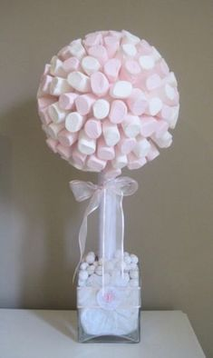 7 Useful Cookout Baby Shower Ideas Marshmallow tree, to go on the sweet table. Shower Party, Baby Shower Parties, Bridal Shower, Idee Baby Shower, Girl Shower, Marshmallow Tree, Sweet Trees, Ballerina Birthday, Festa Party