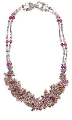 Double-Strand Necklace with Delica® Seed Beads and Swarovski® Crystal Beads - Fire Mountain Gems and Beads