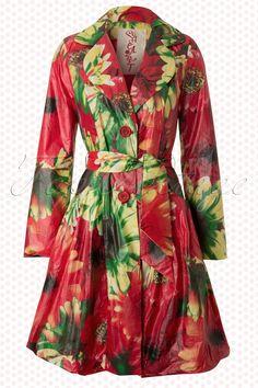 Heart by TopVintage - Sunflower Esmeralda Raincoat in Red