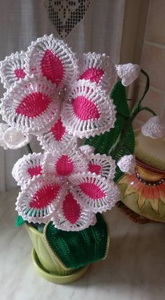 Best 12 Flowers pattern * 2 of 3 – SkillOfKing. Crochet Cactus, Crochet Leaves, Crochet Art, Crochet Home, Irish Crochet, Crochet Motif, Crochet Doilies, Crochet Stitches, Crochet Flower Tutorial