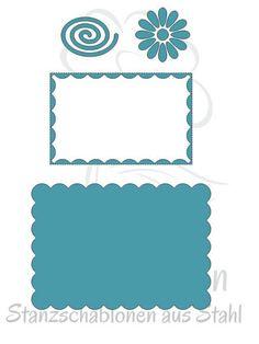 JM Creation Stanzschablonenset Wellenrechteck www.papercrafts.ch