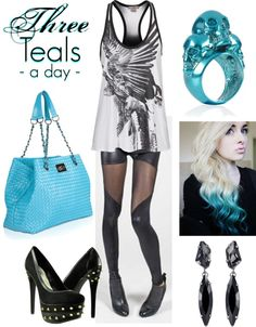 """""""Her Royal Flyness recommends:"""" by herroyalflyness on Polyvore #teal #fashion #outift"""
