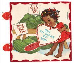 14 Weird & Creepy Vintage Valentine's Day Cards - Arrow in the Eye