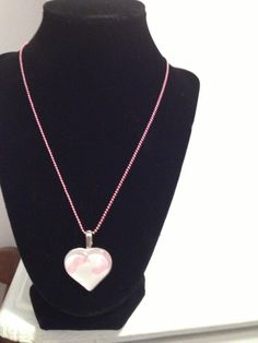 Valentine Sale!  It's a Girl Heart Necklace. $8.95, via Etsy.