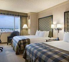 Hilton Long Beach guest room.