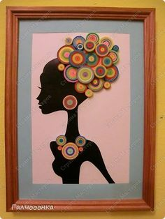 Картина панно рисунок Квиллинг Яркая Лотта Бумажные полосы фото 1