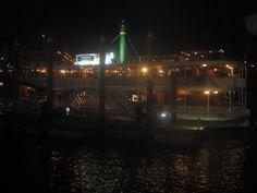 "Paddlesteamer ""Kookaburra Queen"" on the Brisbane River at Eagle Street Pier."