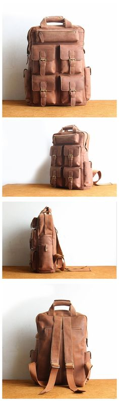 NEW DESIGN HANDMADE GENUINE LEATHER BACKPACK, TRAVELLING BACKPACK