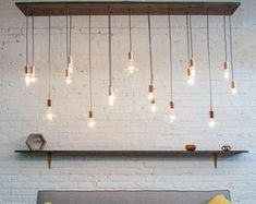 Modern wood Chandelier with Pendant Lights - Modern Wood Kitchen Lighting - Custom Design your own - Small Dining Chandelier Cage Pendant Light, Rustic Pendant Lighting, Rustic Light Fixtures, Dining Chandelier, Rustic Chandelier, Chandeliers, Chandelier Lighting, Glow, White Light Bulbs