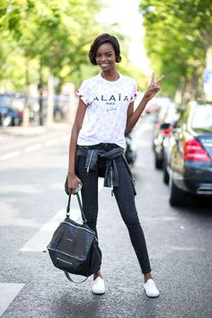 Maria Borges with a Givenchy bag