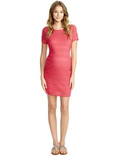 Short Sleeve Side Ruched Maternity Dress