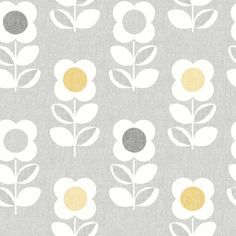 Retro Flower by Arthouse - Grey / Orange : Wallpaper Direct Vintage Style Wallpaper, Retro Wallpaper, Flower Wallpaper, Bedroom Wallpaper, Retro Flowers, Retro Floral, Yellow Flowers, Grey Orange Wallpaper, Flower Patterns