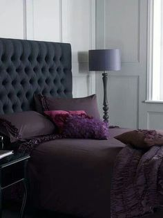 Bedroom... dark and purple just the way I like it ;)
