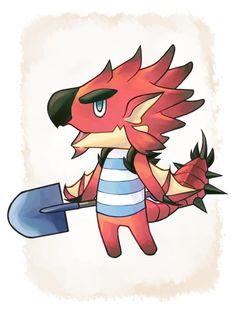 Rathalos the Jock villager!! Or maybe cranky? This one was a struggle but I think it could go either way. Bring some antidotes when you go over to this guy's house.Kecha Wacha is next, but it might take a while since school is starting up again!