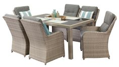 Cannes 6 Seater, outdoor dining furniture, outdoor dining settings, outdoor dining table and chairs Segals outdoor furniture $1600