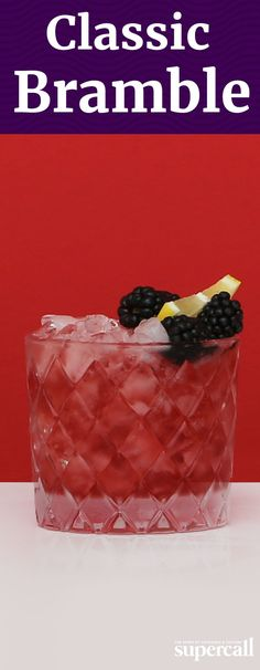 "The mixed drink is at its best at the end of summer, when blackberries and other wild ""bramble"" fruits are in season. Crushed ice is integral not only to the drink's appearance but also its flavor, as the ice helps dilute the cocktail to the right levels. INGREDIENTS: 2 OZ GIN .75 OZ FRESH LEMON JUICE 0.5 OZ CRÈME DE MÛRE 0.5 OZ SIMPLE SYRUP 2 BLACKBERRIES (FOR GARNISH)"