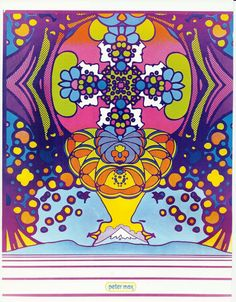 Psychedelic Peter Max Illustration of the by AnnesAccumulations