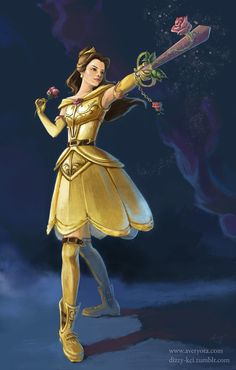 Belle with the Keyblade Divine Rose (aka ラヴィエンローゼ) Guess I should draw the others, too! Cinderella with Stroke of Midnight: furafura.dev...