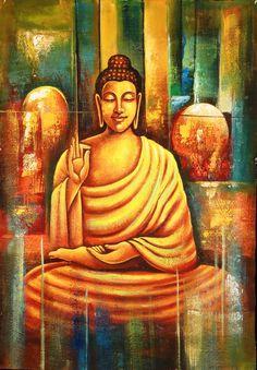 Buddhism Art 4 - Handpainted Art Painting - X Buddha Zen, Buddha Meditation, Meditation Music, Buddha Buddhism, Buddha Artwork, Buddha Wall Art, Budha Painting, Buddha Canvas, Spiritual Paintings