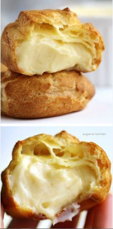 Mousseline cream filled cream puffs are the best | CookJino
