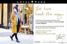 Tonight is the night!  Join us at @lexienewyork our Loyal Hana trunk show in New York City from 4-7PM.  We'll be partnering with some of our favorite brands including @yoursoulstyle @taneorganics ! 15% off all brands and services and join us for drinks.  Can't wait to see you there!  http://ift.tt/1OUGYnG