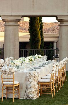 wedding tablescapes cream