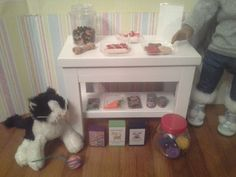 American Girl Pet Store Stand complete with by FuzzyButtFarm