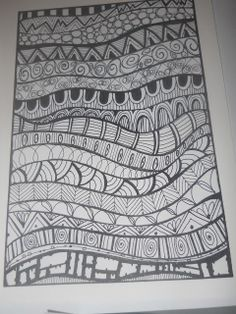 zentangle basics patterns for kids - Googl Doodle Art Drawing, Zentangle Drawings, Doodles Zentangles, Drawing Ideas, Doodling Art, Mandala Drawing, Zen Doodle, Easy Zentangle Patterns, Doodle Patterns