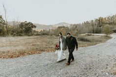 Intimate Autumn Mountain Wedding - Photo By Christian Lemons of Foxhouse Studio   Asheville NC   outdoor fall ceremony   bride and groom mountains cozy sweater tweed vest